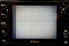 Nikon szare pasy na LCD nie działa wyświetlacz naprawa serwis Kraków