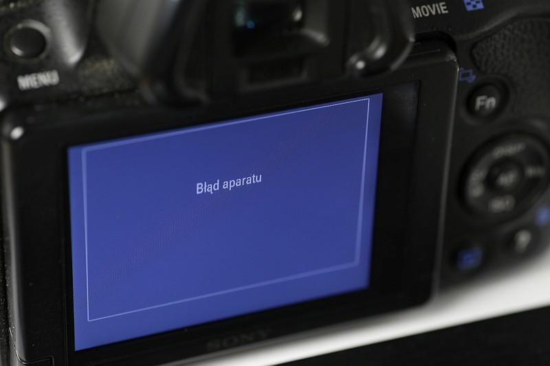 Sony błąd aparatu naprawa serwis Kraków