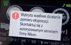 Wykryto wadliwe działanie pomiaru ekspozycji Nikon D5300