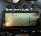 Aparat nie włącza się, wyświetla błąd Err 40 Canon 7D